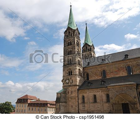 Pictures of Imperial cathedral in Bamberg (Germany, Bavaria.
