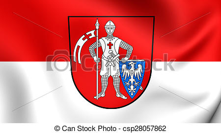 Stock Illustration of Flag of the Bamberg, Germany..