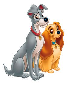 Lady and the Tramp PNG Clipart Picture.