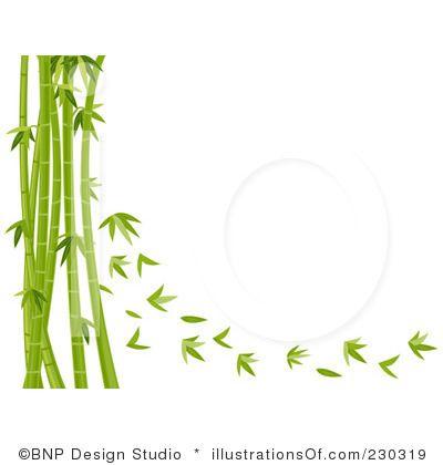 Japan Bamboo Frames Clip Art.