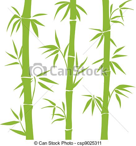 Vector Clip Art of Bamboo.