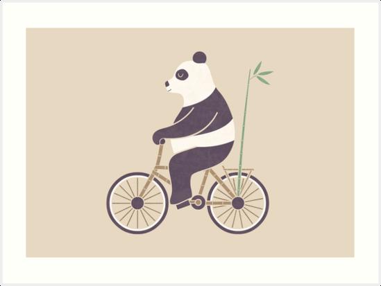 "My Bamboo Bicycle"" Art Prints by Teo Zirinis."