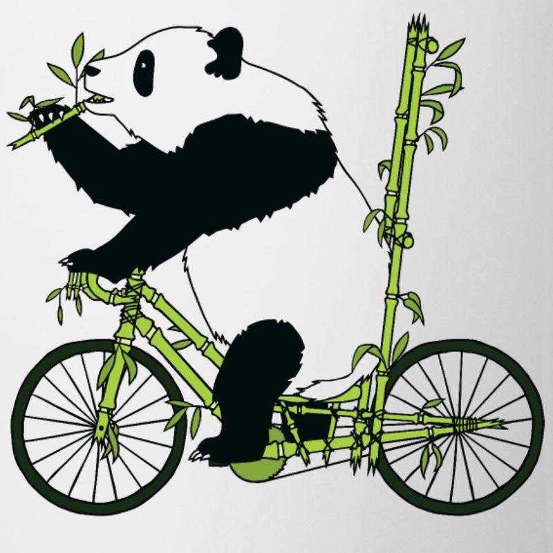 Panda Bear Riding Bamboo Bike Mug.