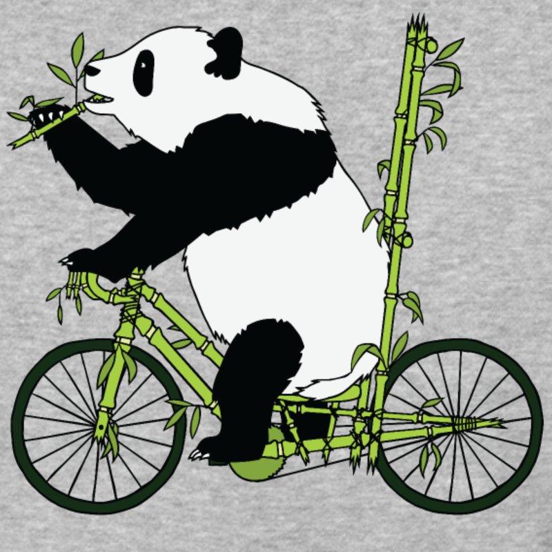 Panda Bear Riding Bamboo Bike Men's Baseball T.