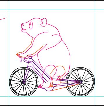 mike joos art: Making Of Panda Bear/ Bamboo Bike Illustration.