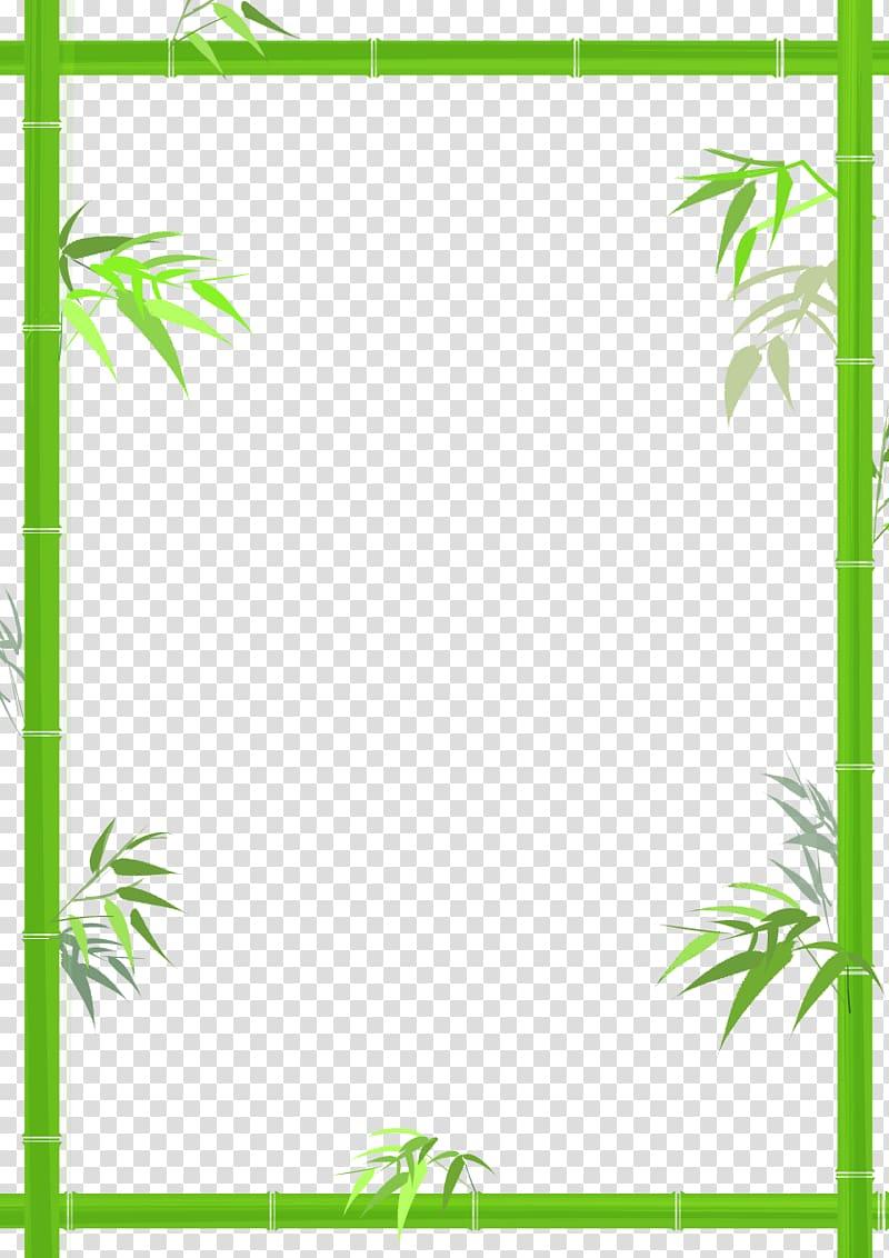 Green bamboo border , Bamboo Bamboe, Green bamboo decorative borders.