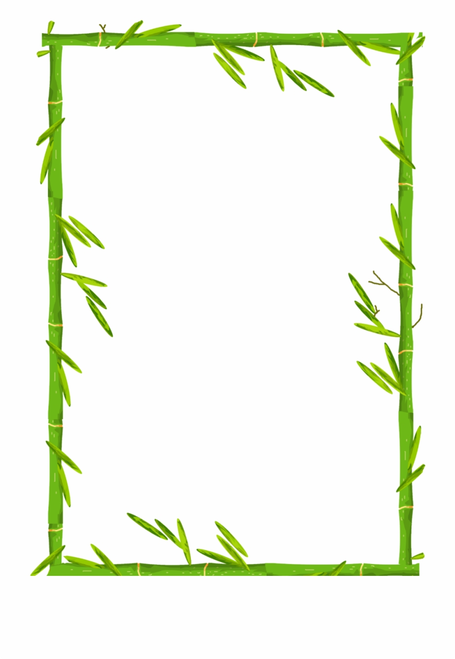 ftestickers #frame #borders #bamboo #green.