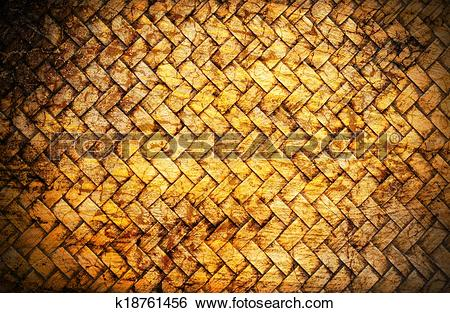 Stock Images of concept old bamboo craft texture with cracks.