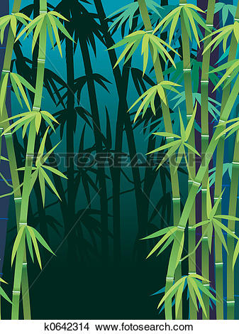 Drawings of Bamboo forest k0642314.