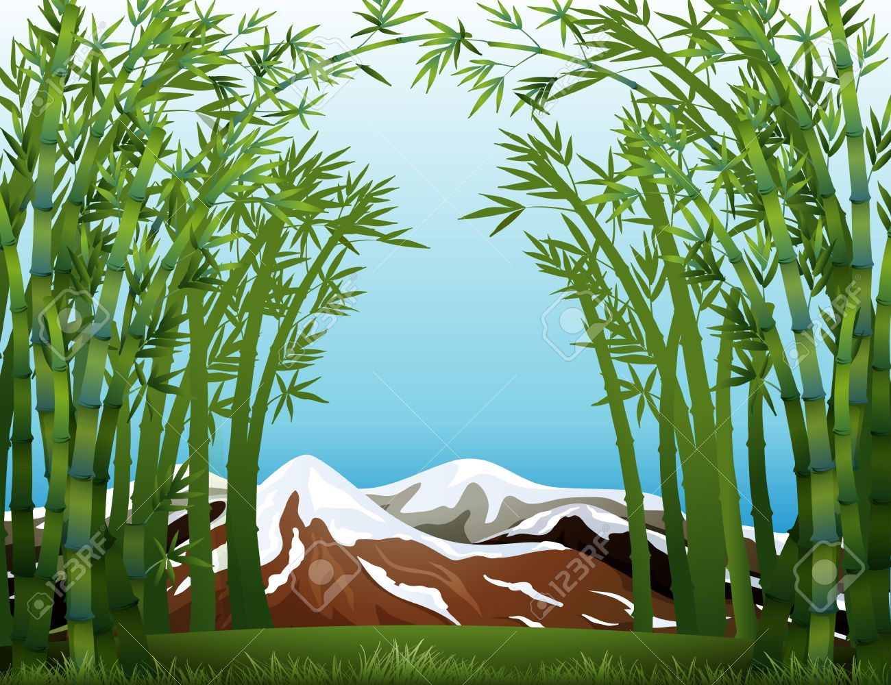 Clipart bamboo forest.