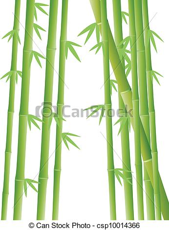 Clip Art Vector of Bamboo Forest.