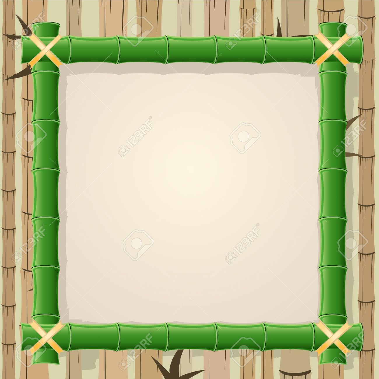 Free color clipart japanese frame borders.