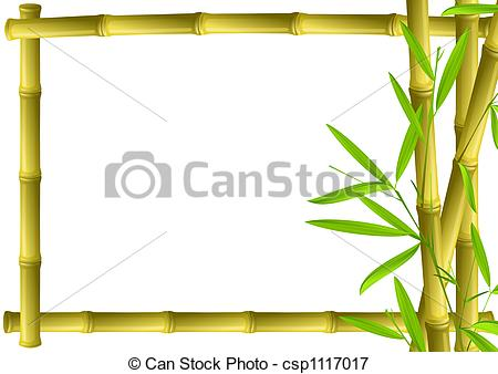 Stock Illustrations of Bamboo frame.