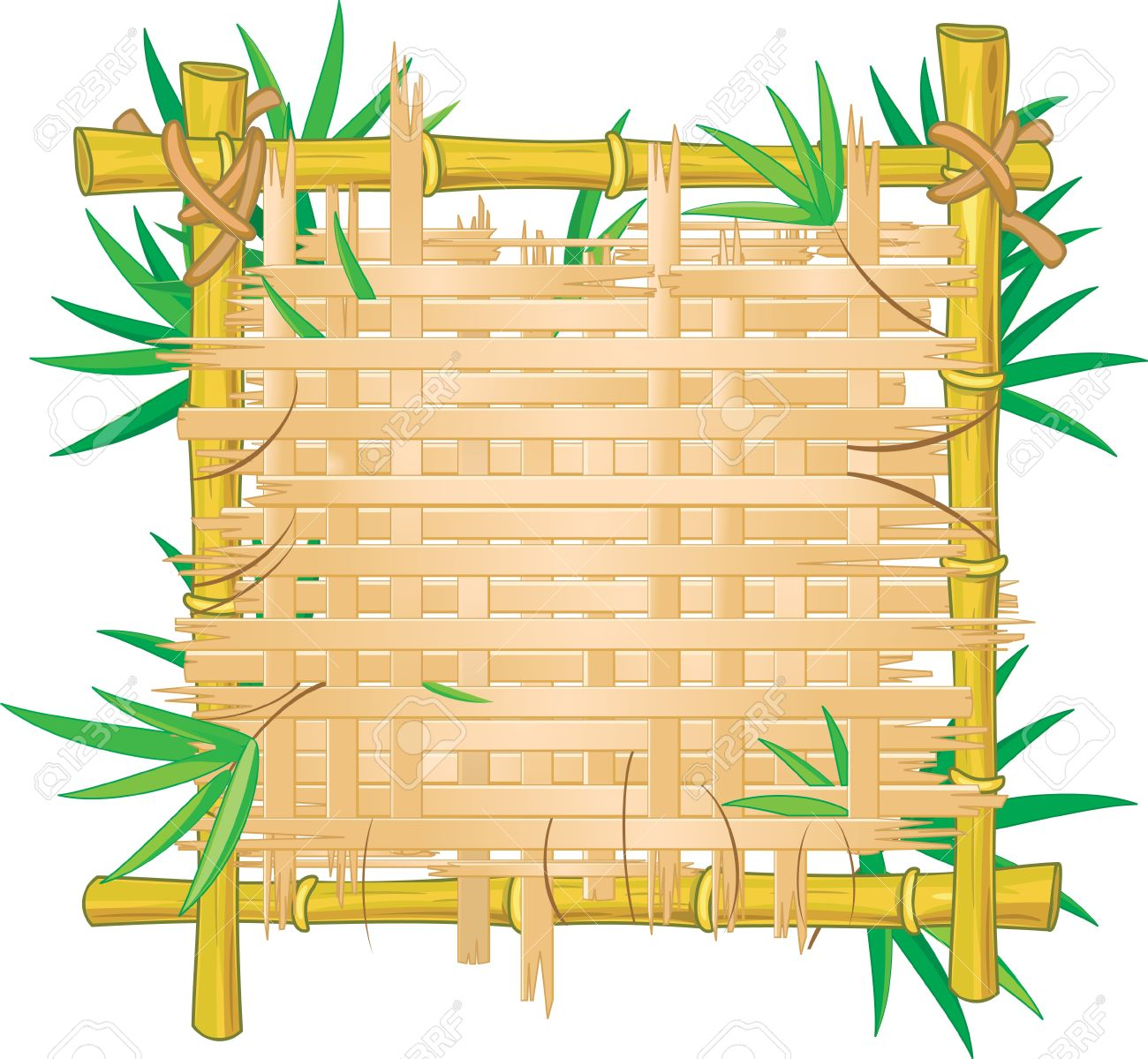 Bamboo frame clipart.