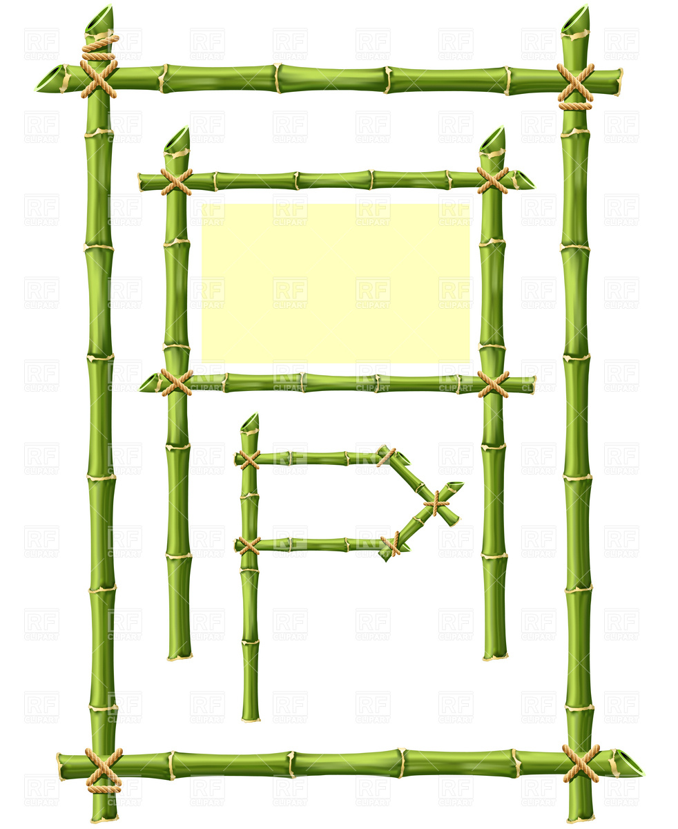Bamboo Frame Free Clipart.