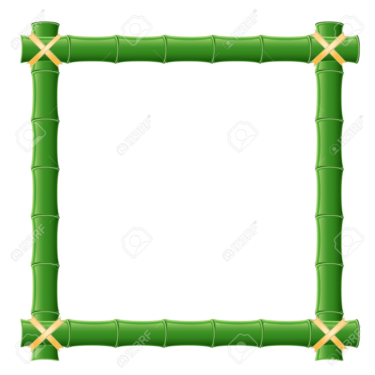 Bamboo Frame Royalty Free Cliparts, Vectors, And Stock.