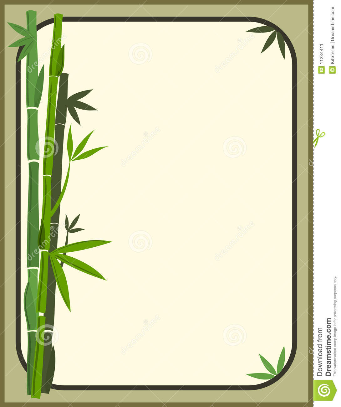 Bamboo borders or clip art.