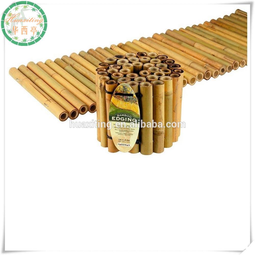 Bamboo Garden Edging Roll Clipart.