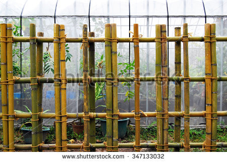 Bamboo Fence Stock Photos, Royalty.