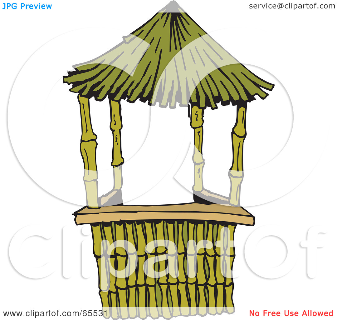 Tiki Hut Roof Clipart View Of Nice Exotic Bamboo Hut.