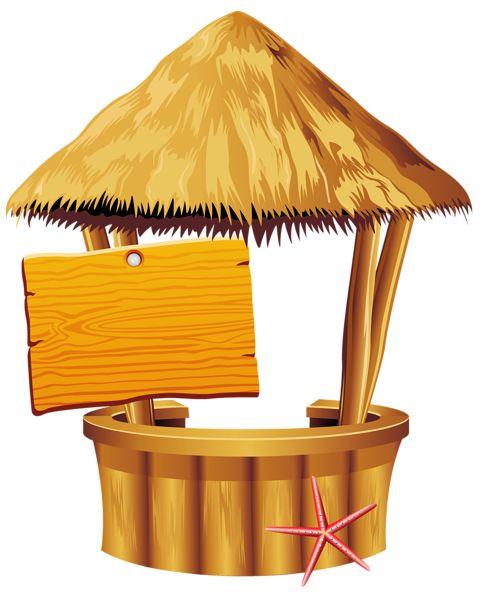 Tiki hut clipart free.