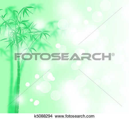 Drawings of Lucky bamboo with snow poster k5088294.
