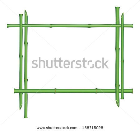 Bamboo Rope Ladder Crossbeams Connected Knots Stock Vector.