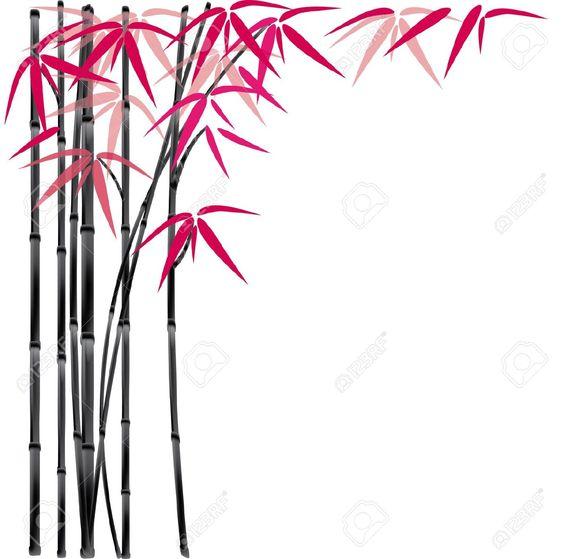 bamboo border clipart free.