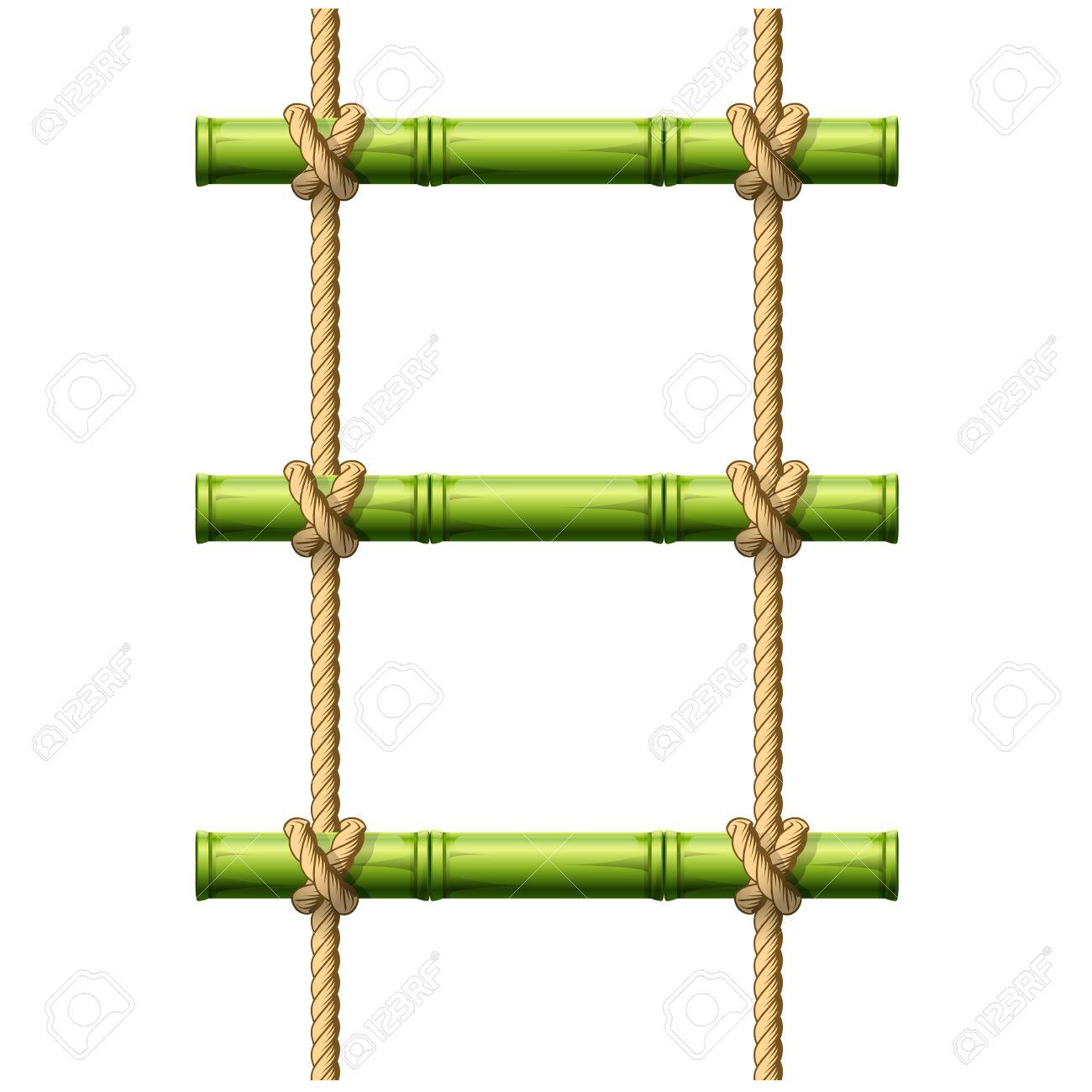 Bamboo Rope Ladder.