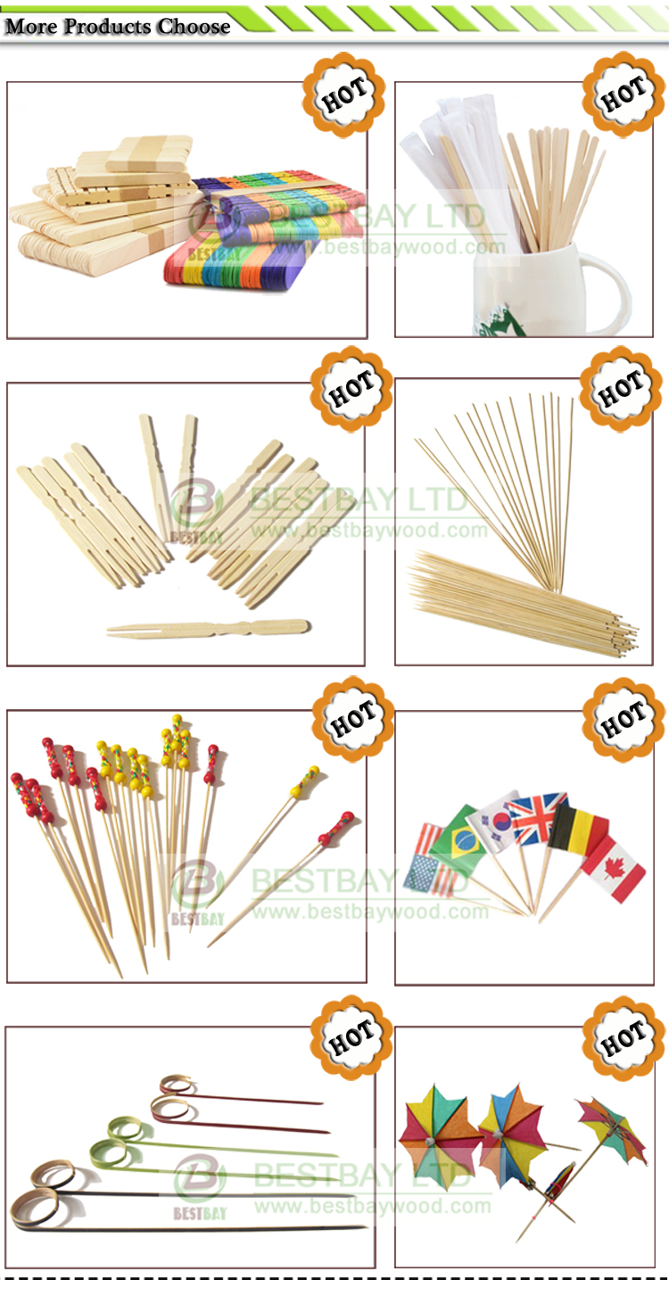 Bamboo Food Pick,Knot Stick For Party.