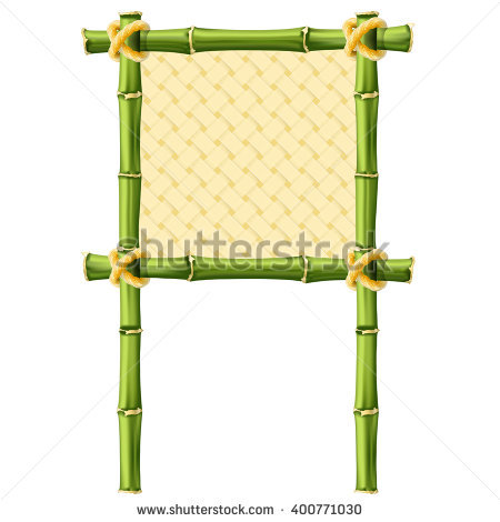 Green Bamboo Stems Isolated On White Stock Vector 53170279.
