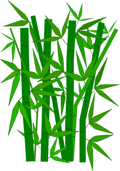 Cartoon Of Bamboo Leaves Clipart.