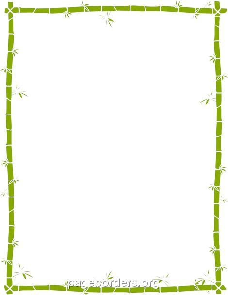 Bamboo Border: Clip Art, Page Border, and Vector Graphics.
