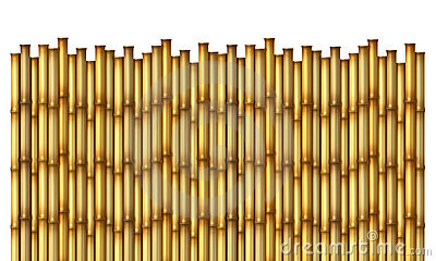 Bamboo Fence Stock Photography.