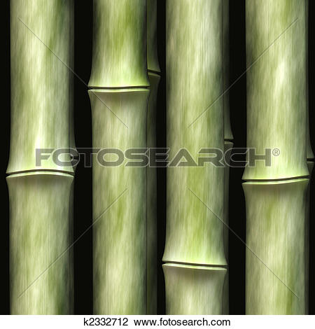 Clip Art of Seamless bamboo poles texture. This tiles as a pattern.