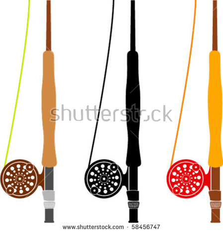 Fly Rod Stock Images, Royalty.