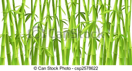 Clip Art of chinese bamboo trees.