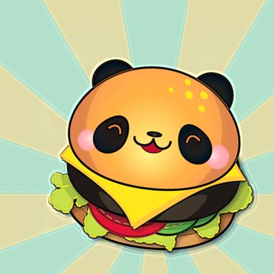 panda burger by bamo.