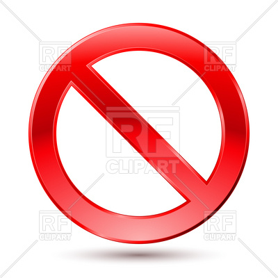 Empty Ban Sign Vector Image.