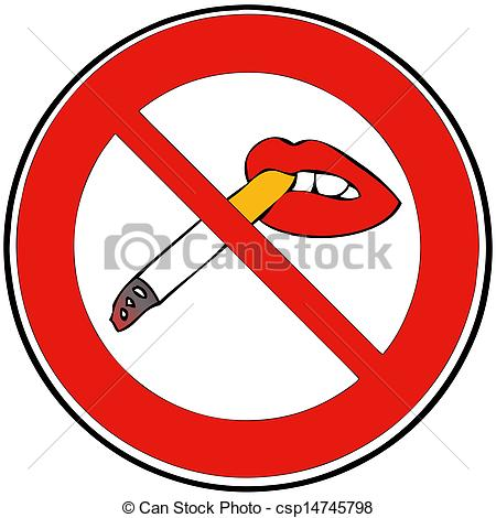 Stock Illustration of Ban on smoking csp14745798.