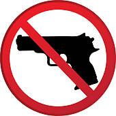Handgun Ban Clip Art.