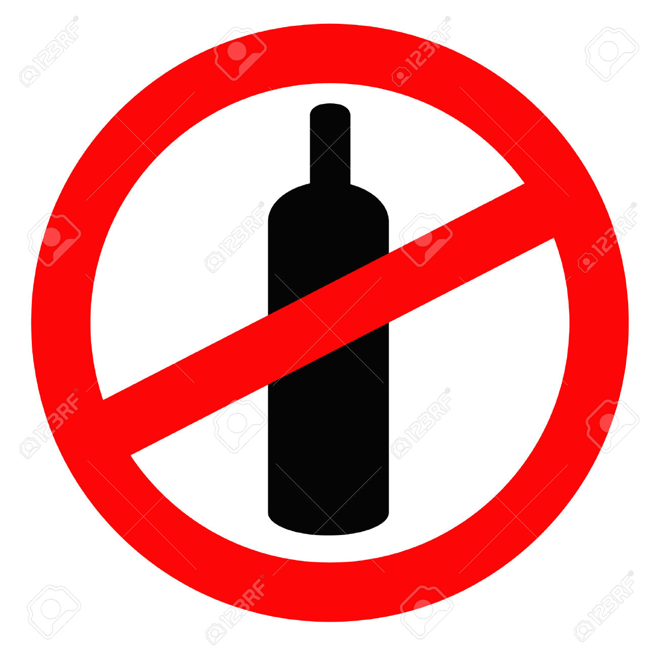 alcohol ban: bottle of alcohol.