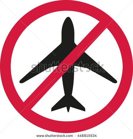 Flight Ban Stock Photos, Royalty.