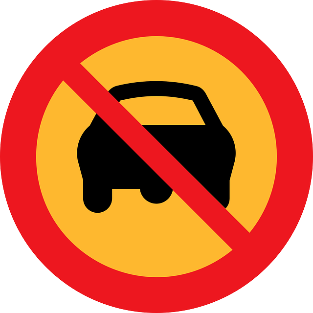 Free vector graphic: No Driving, No Cars, Ban On Driving.