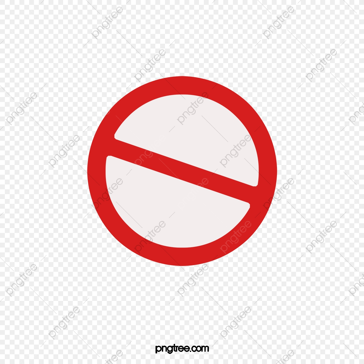 Red Logo Ban, Logo Clipart, Mark, Red PNG Transparent Clipart Image.