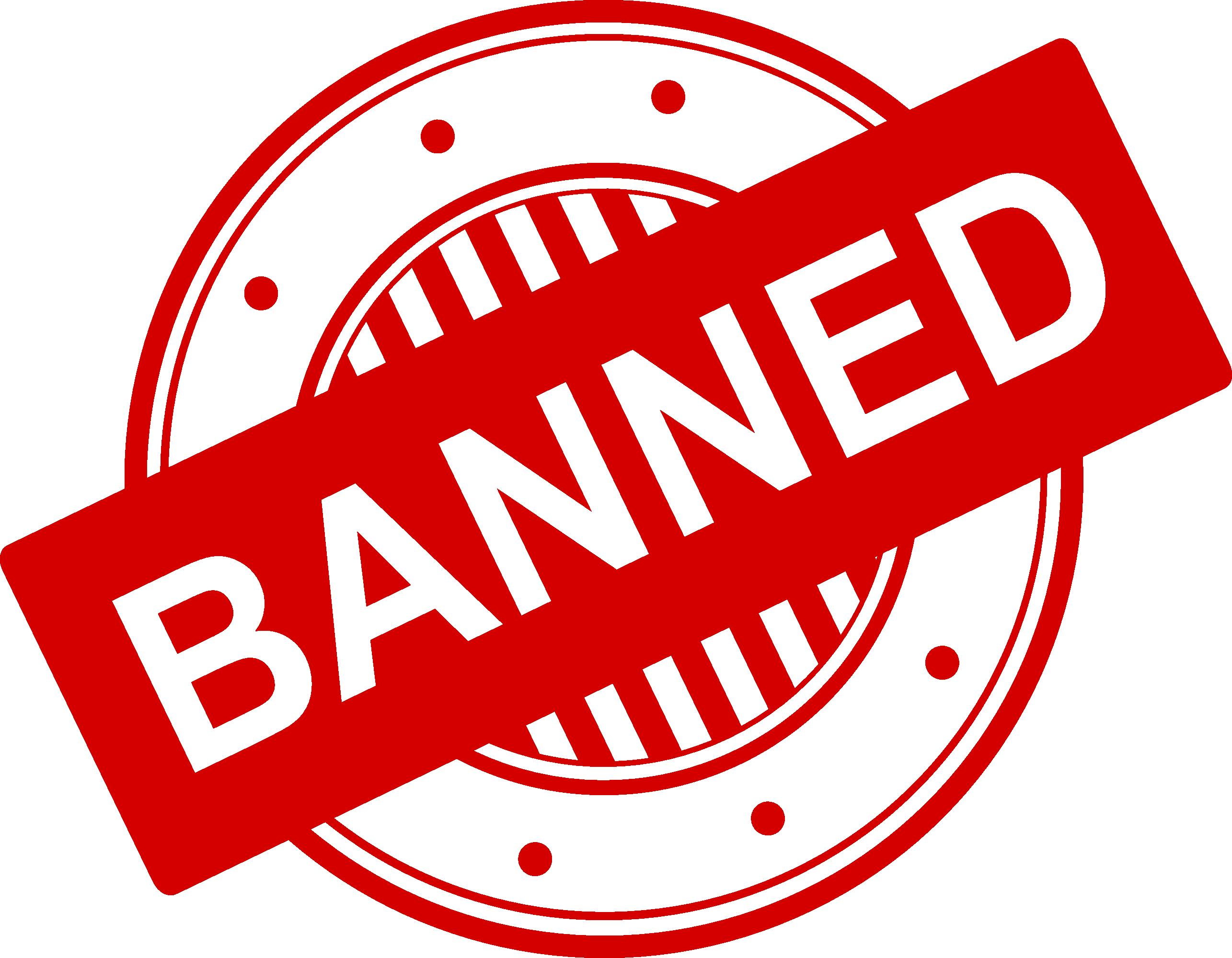 4 Banned Stamp Vector (PNG Transparent, SVG).