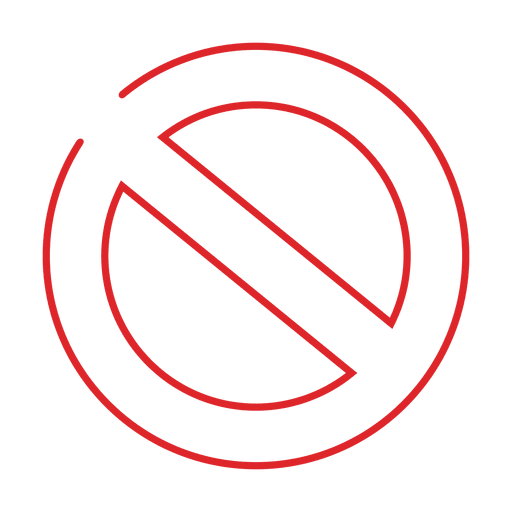 Red ban line icon.svg.