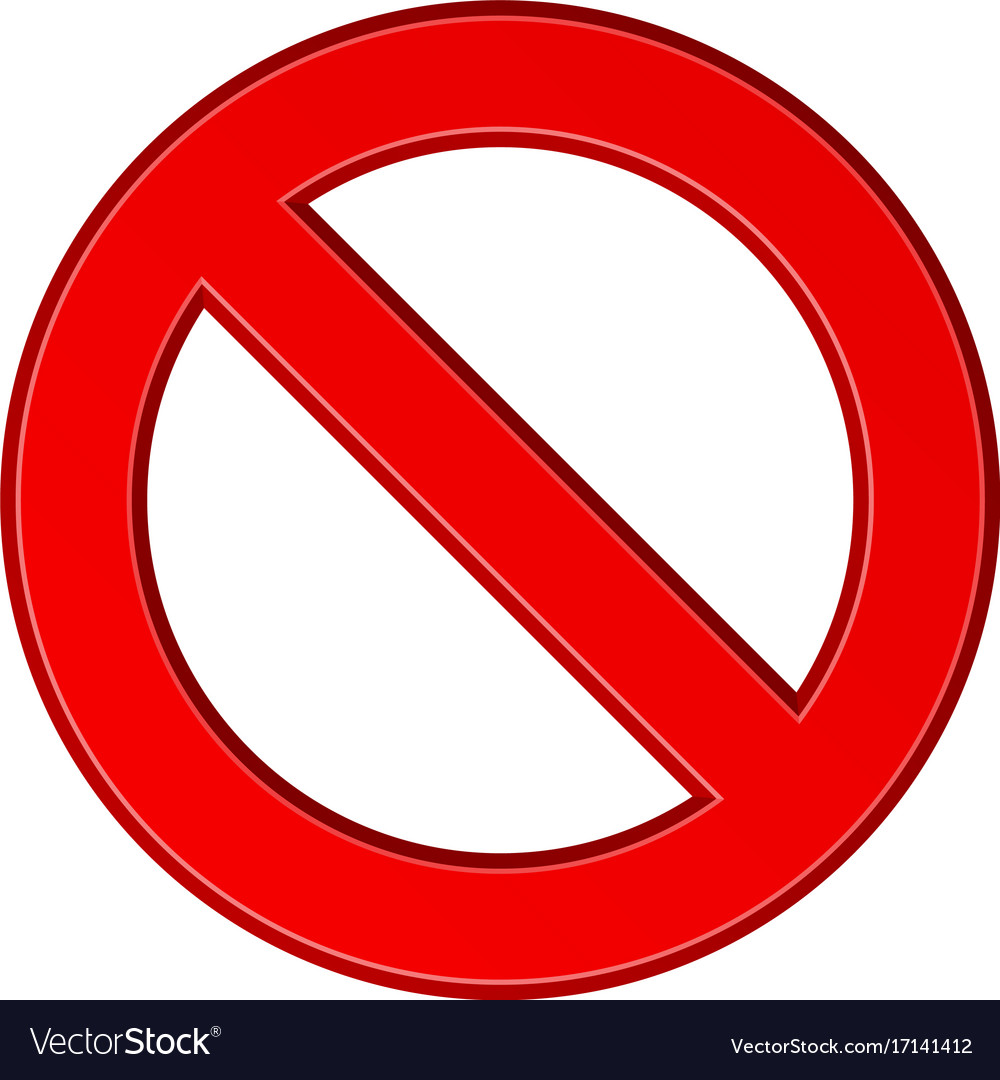 Red blank ban sign.