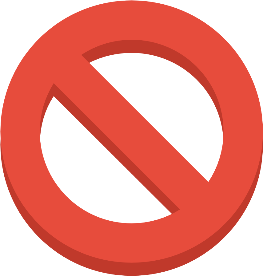 Sign Ban Icon.