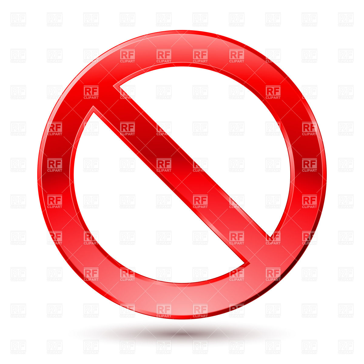 Empty Ban Sign Stock Vector Image.